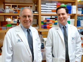Dr. Jeffrey Noebels and Pedro Olivetti, a student in the Baylor College of Medicine M.D./Ph.D. program, tested a treatment for a devastating epilepsy in a mouse model.